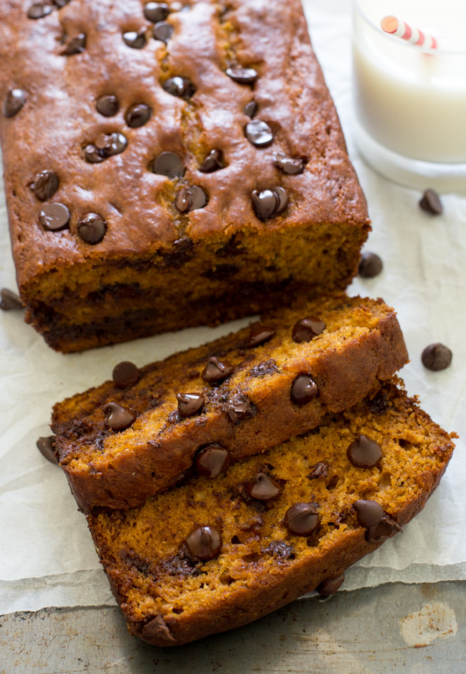Chocolate Pumpkin Bread  Chocolate Chip Pumpkin Bread