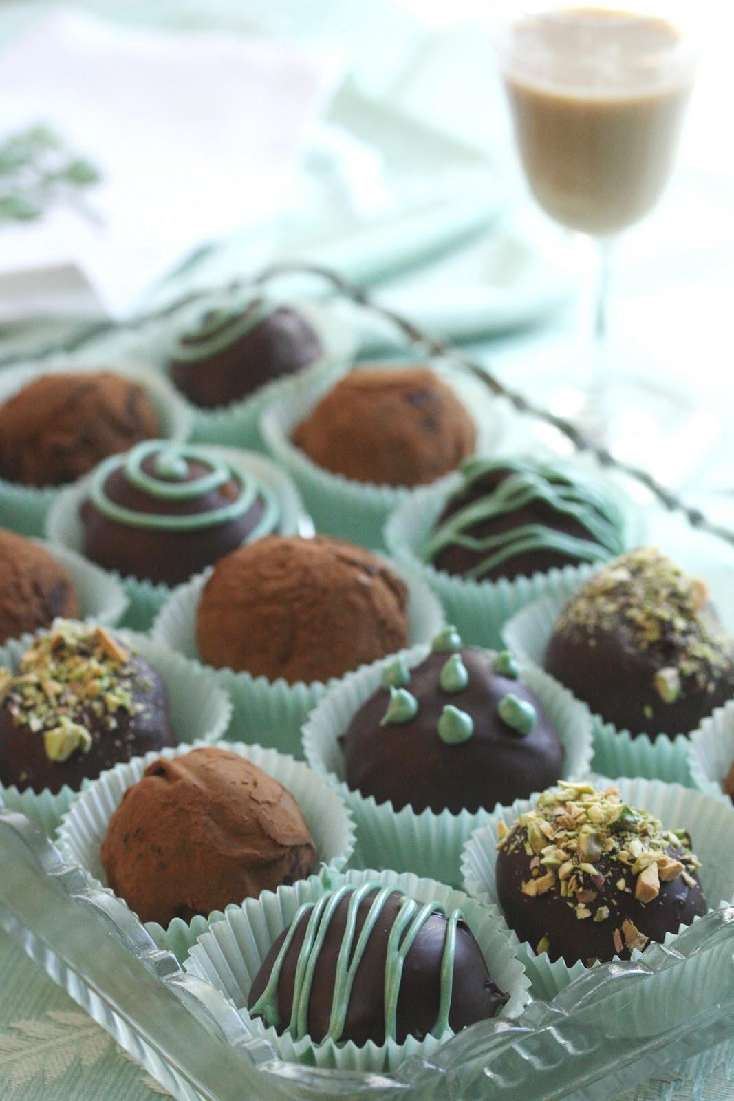 Chocolate Truffle Desserts  Bailey s Irish Cream Chocolate Truffles Saving Room for