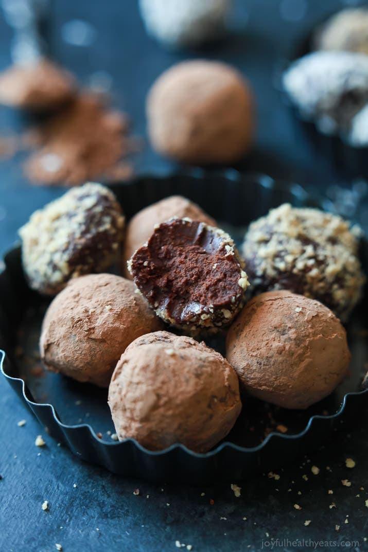 Chocolate Truffle Desserts  Decadent Healthy Chocolate Truffles