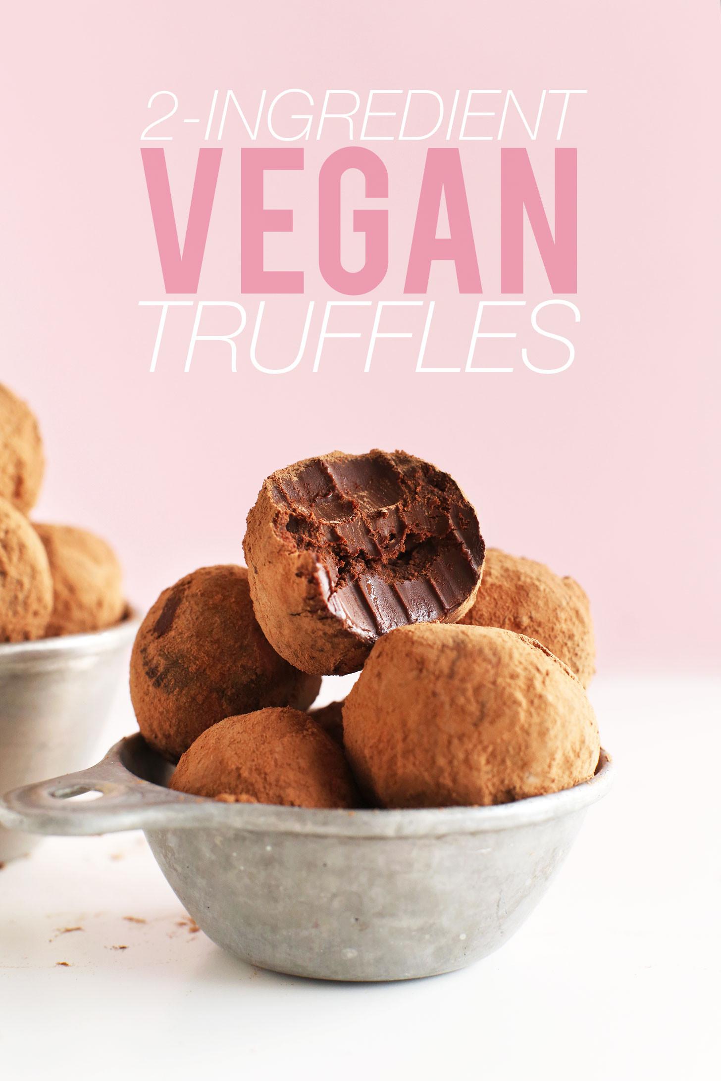 Chocolate Truffle Desserts  2 Ingre nt Chocolate Truffles