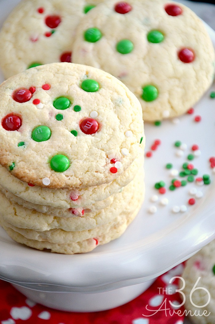 Christmas Baking Reciepes  Christmas Cookies Funfetti Cookies The 36th AVENUE