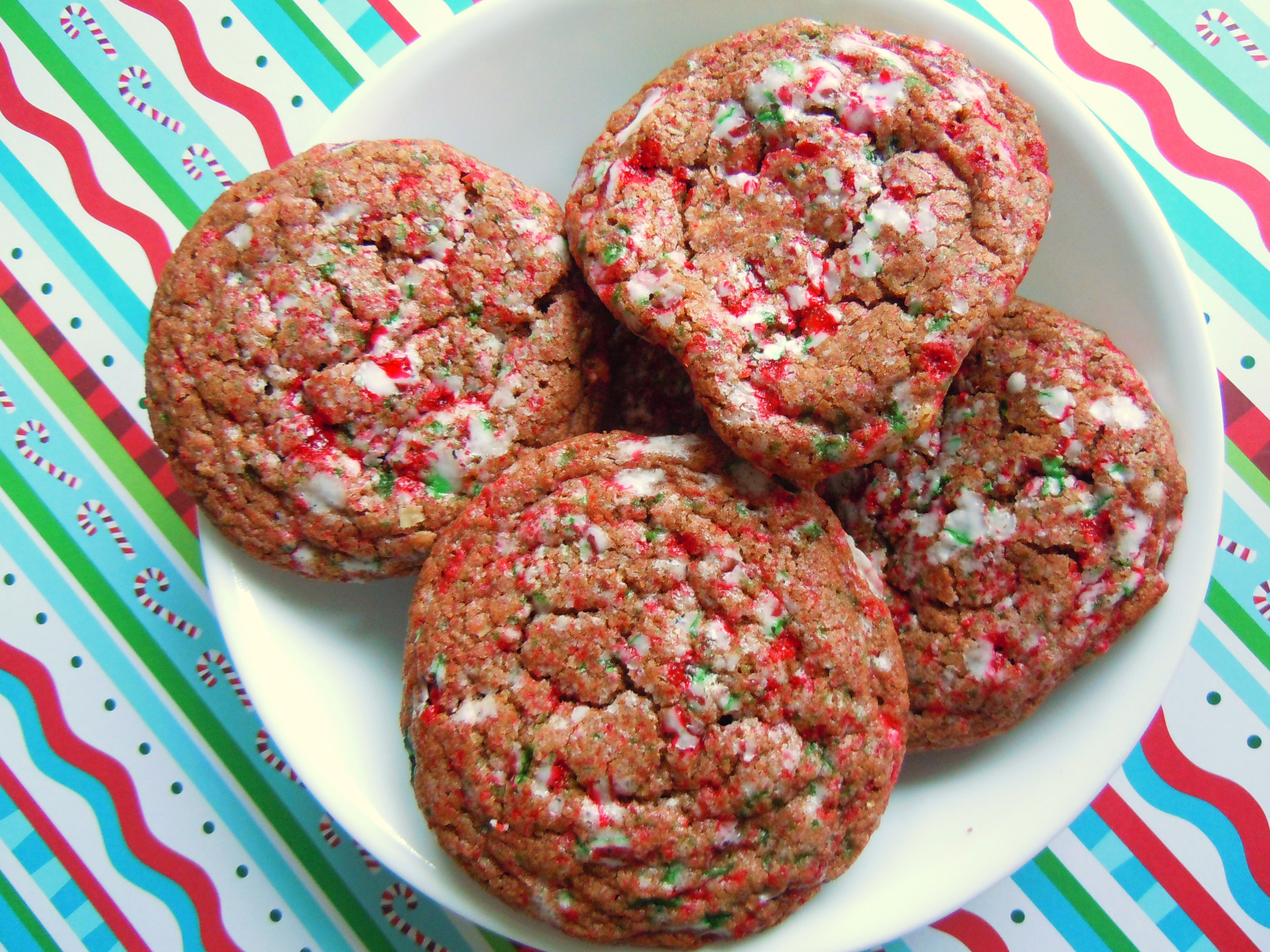 Christmas Baking Reciepes  Christmas Cookie Baking Fun Crackled Chocolate Candy Cane