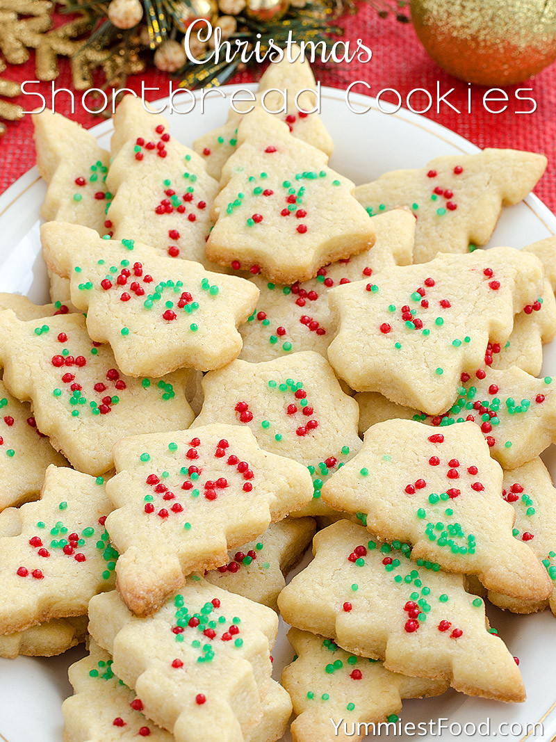 Christmas Baking Reciepes  Christmas Shortbread Cookies Recipe from Yummiest Food
