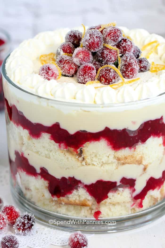 Christmas Recipes Desserts  Cranberry Trifle Dessert Gorgeous & Delicious Spend