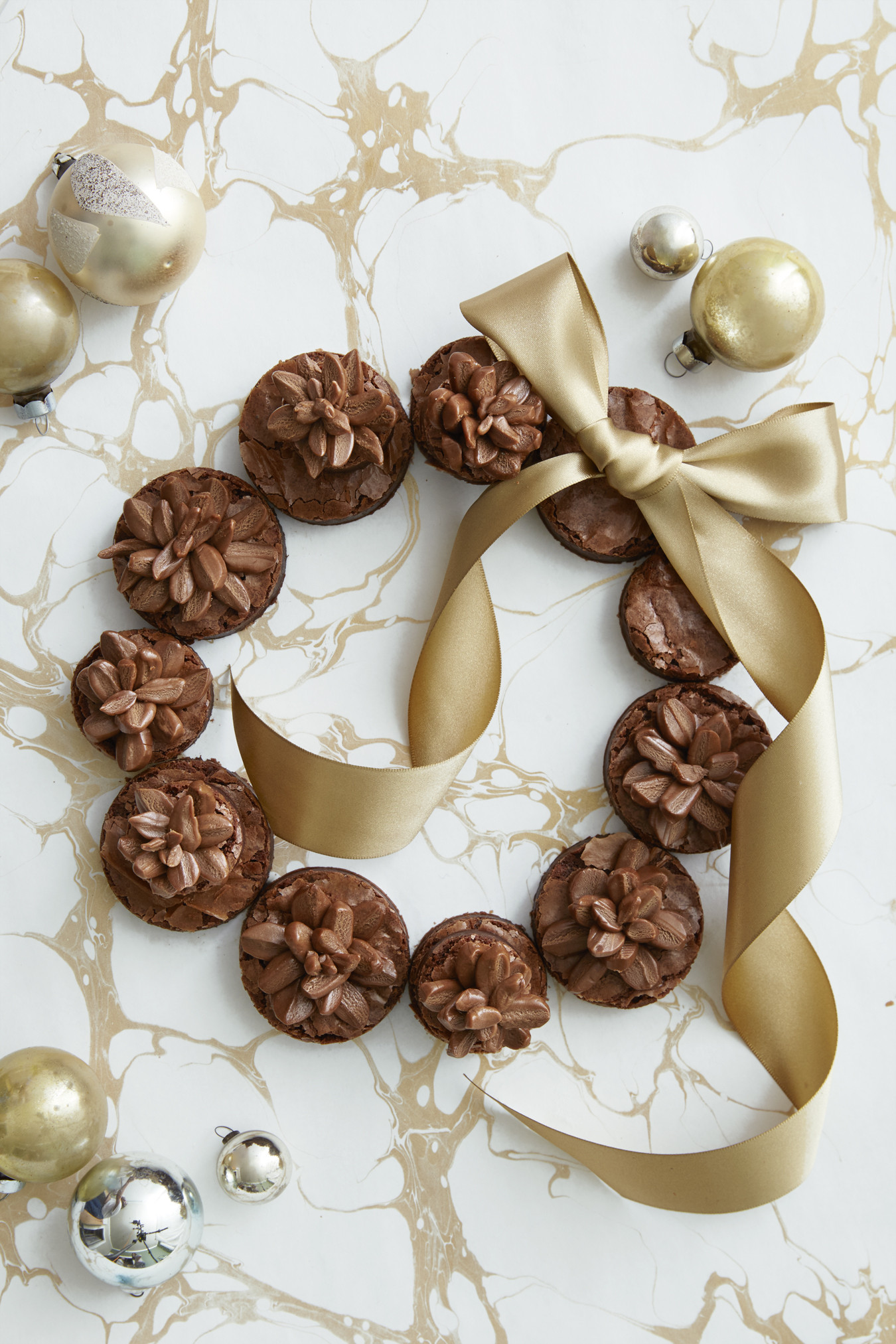Christmas Recipes Desserts  Best Pinecone Brownie Wreath Recipe How To Make a