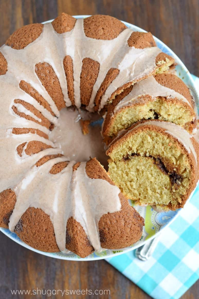 Cinnamon Bundt Cake  Cinnamon Swirl Bundt Cake Shugary Sweets