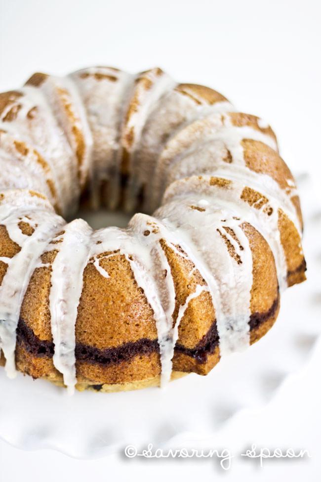 Cinnamon Bundt Cake  Cinnamon Swirl Bundt Cake Savoring Spoon — Savoring Spoon