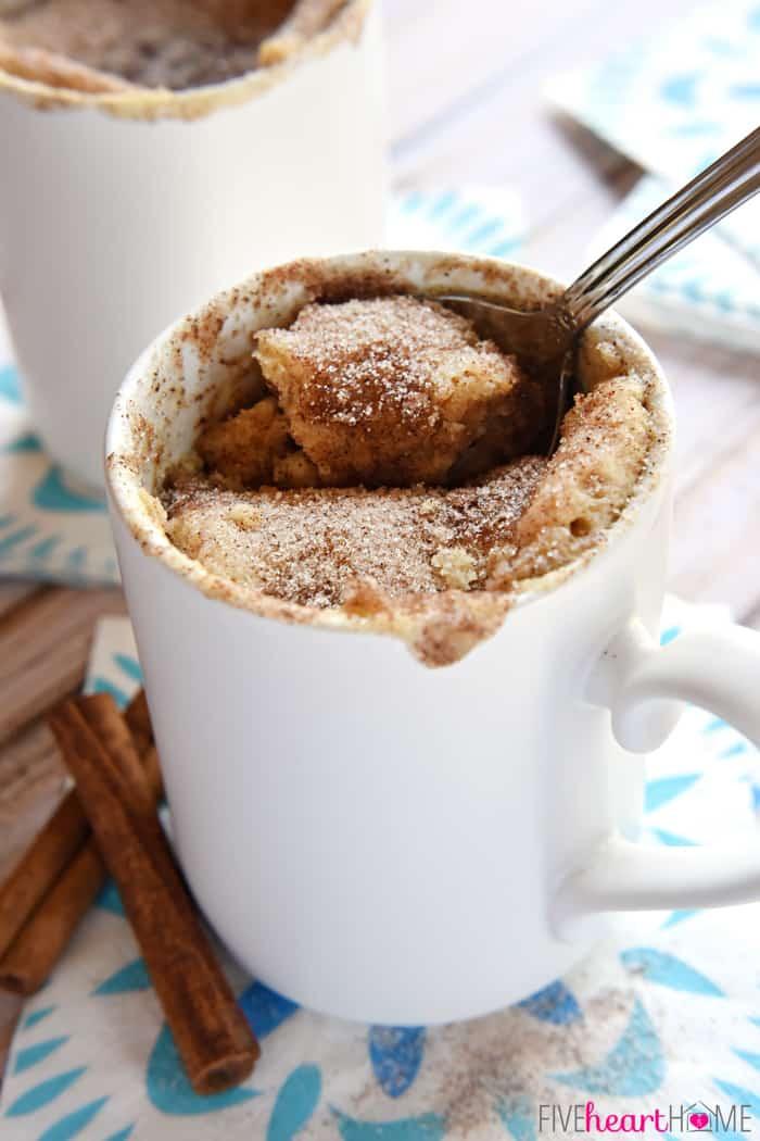 Cinnamon Mug Cake  Snickerdoodle Mug Cake