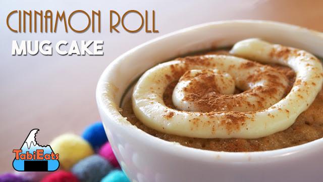 Cinnamon Mug Cake  TabiEats Cinnamon Roll Mug Cake Easy Recipe