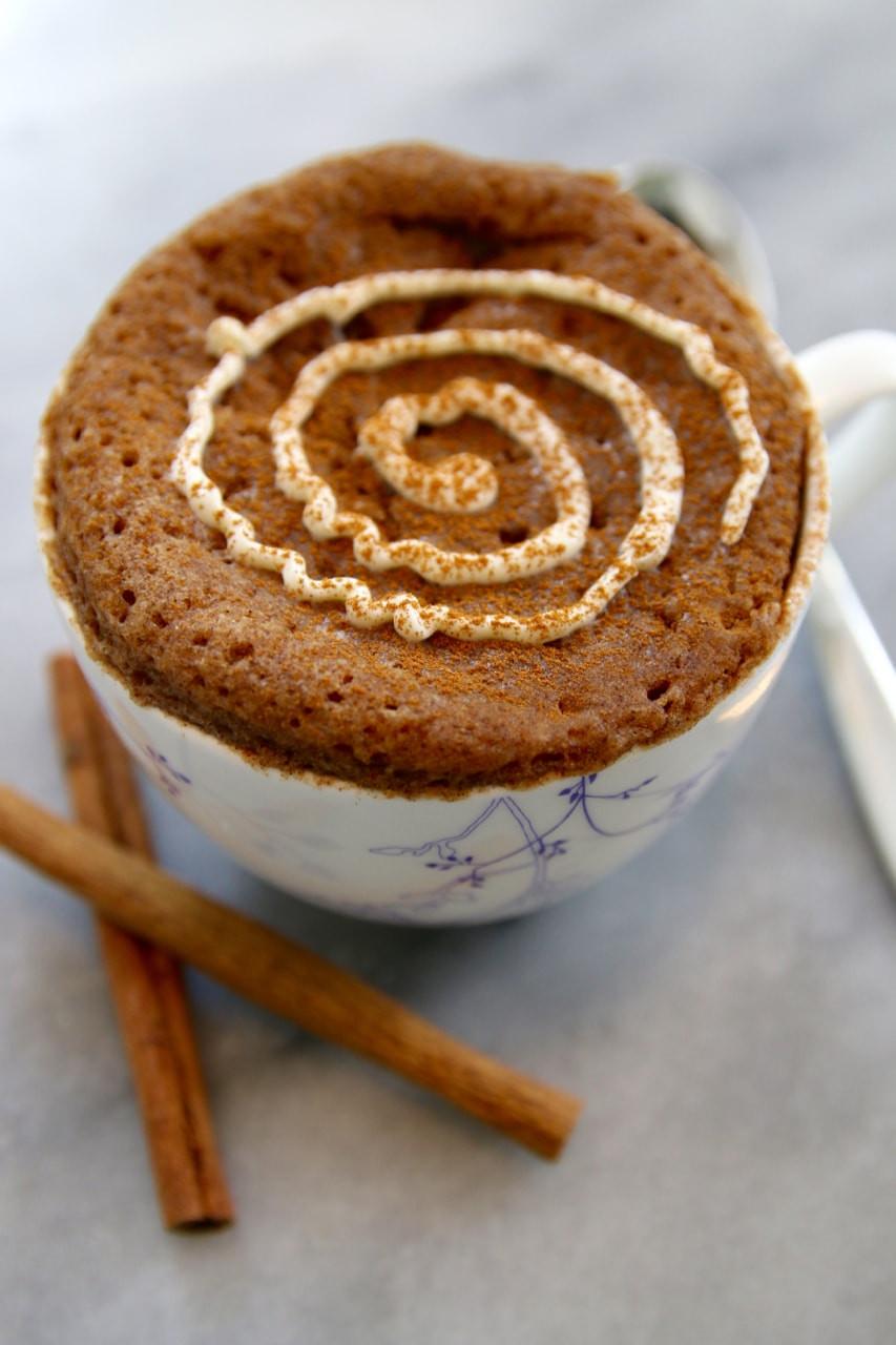 Cinnamon Mug Cake  Microwave Mug Breakfasts 3 Amazing Breakfast Recipes