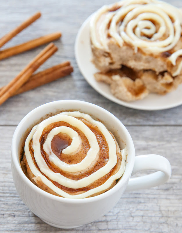 Cinnamon Mug Cake  Cinnamon Roll Mug Cake Kirbie s Cravings