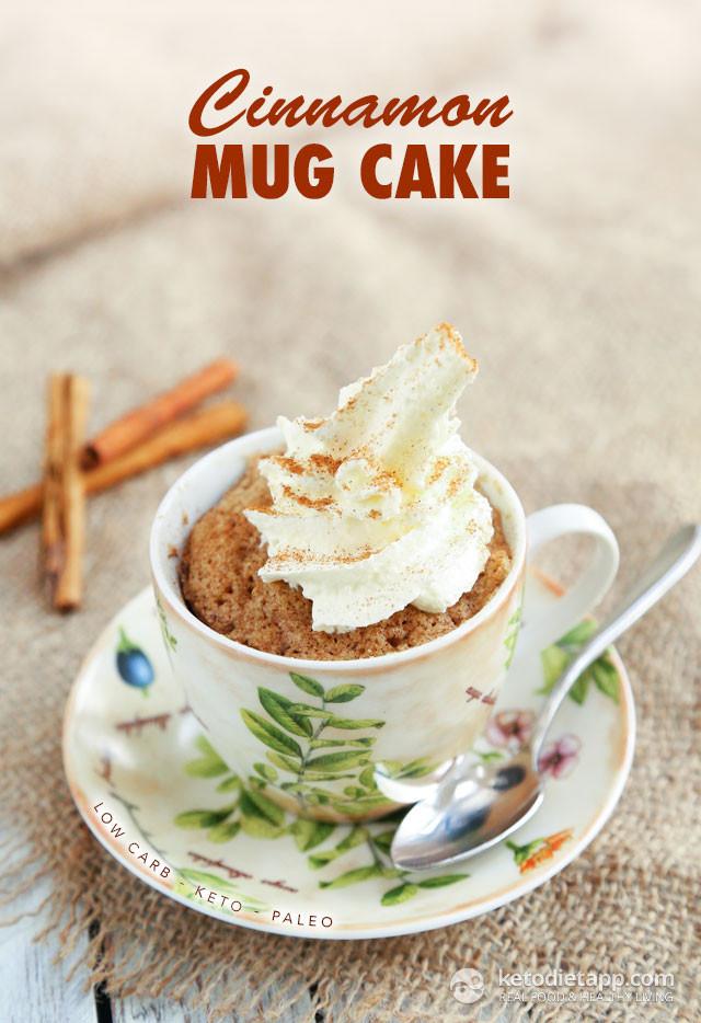 Cinnamon Mug Cake  Cinnamon Keto Mug Cake
