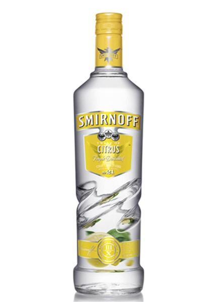 Citrus Vodka Drinks  SMIRNOFF CITRUS VODKA 750ml