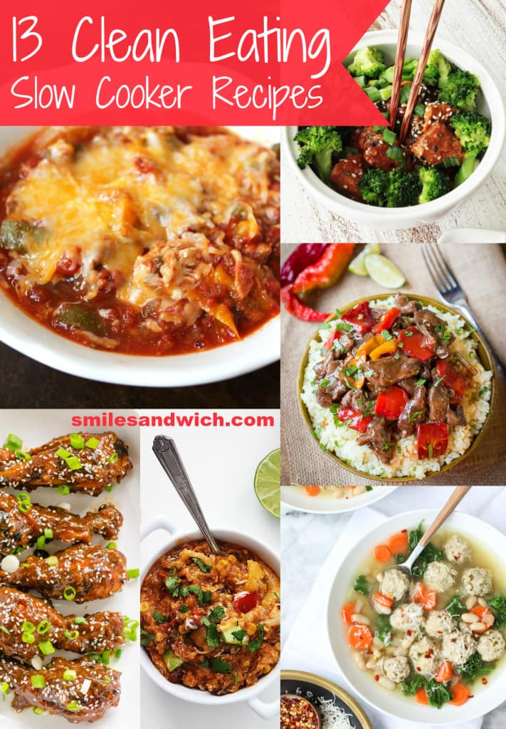 Clean Dinner Recipes  13 Clean Eating Slow Cooker Recipes Smile Sandwich