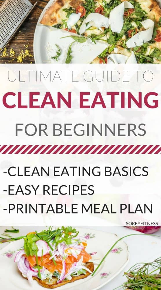 Clean Eating Meal Plan On A Budget  Clean Eating for Beginners [Ultimate Guide Printable