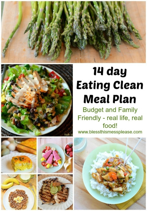 Clean Eating Meal Plan On A Budget  Eating Clean Meal Plan Spring Summer Menu Bless This Mess