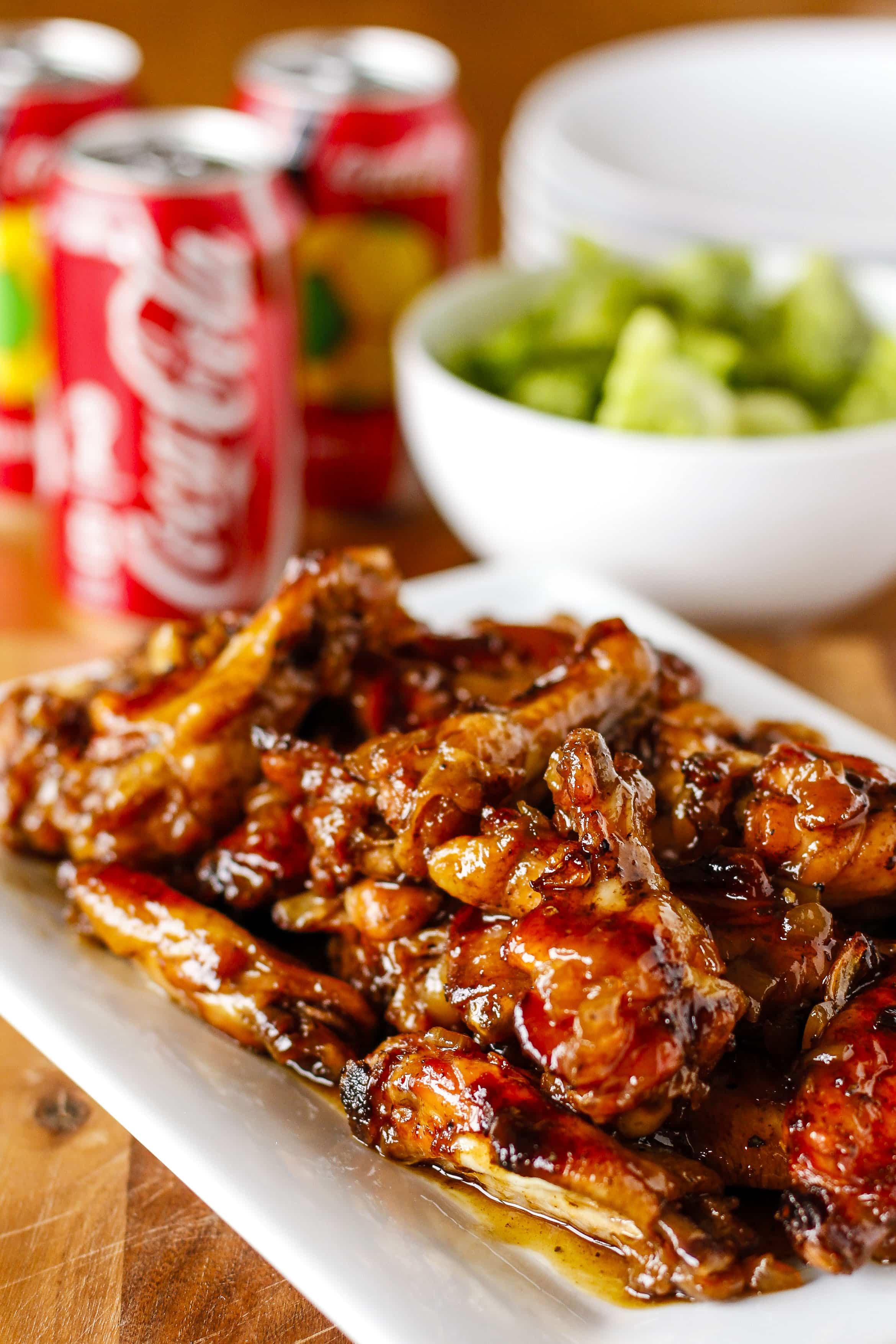 Coca Cola Chicken Wings  Crispy Coca Cola Baked Chicken Wings