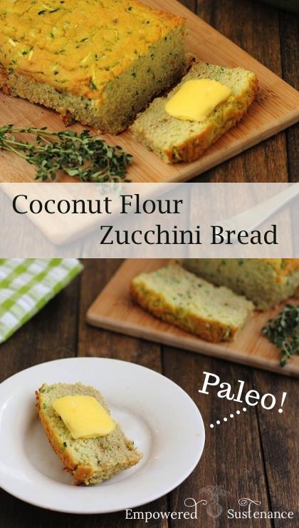 Coconut Flour Zucchini Bread  Coconut Flour Zucchini Bread Paleo