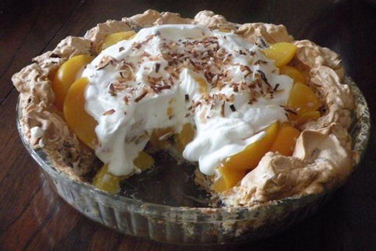 Coconut Meringue Pie  Four Generation Peach Pie with Coconut Meringue Crust