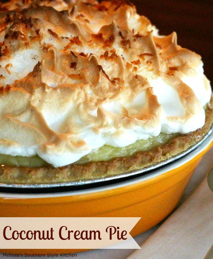Coconut Meringue Pie  1000 ideas about Coconut Meringue Pie on Pinterest