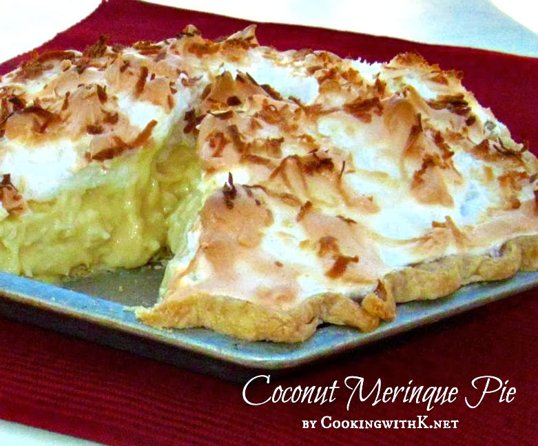 Coconut Meringue Pie  Cooking with K Homemade Butterscotch Pie the secret to