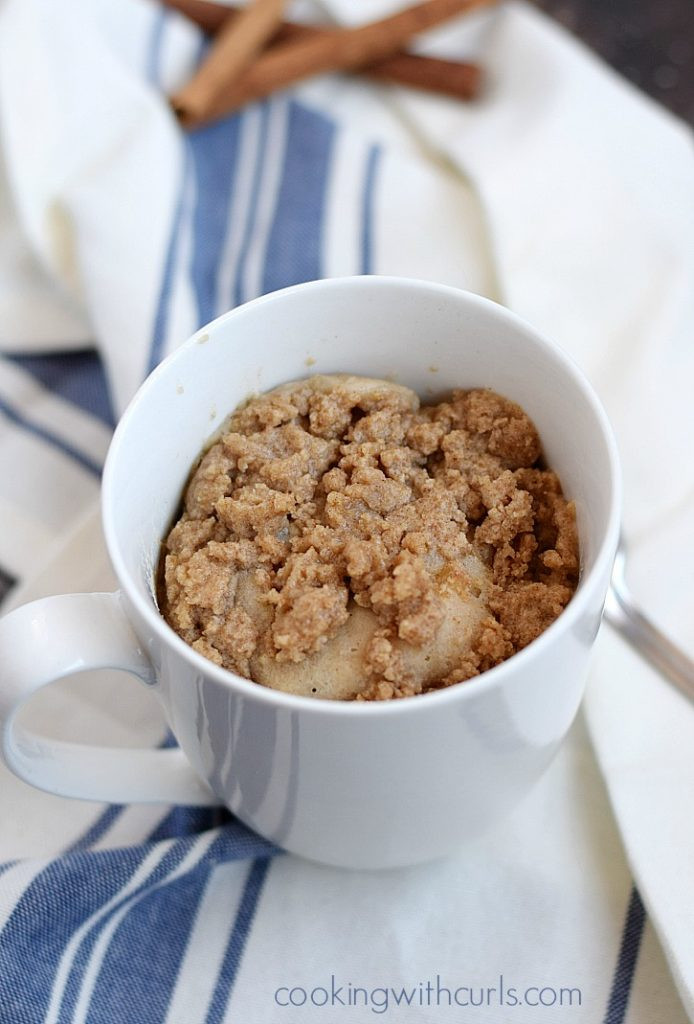 Coffee Mug Cake  Coffee Cake in a Mug Cooking With Curls