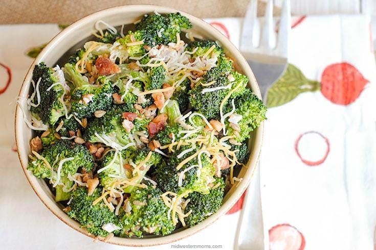 Cold Broccoli Salad  Delicious Broccoli Salad With Cheese Recipe