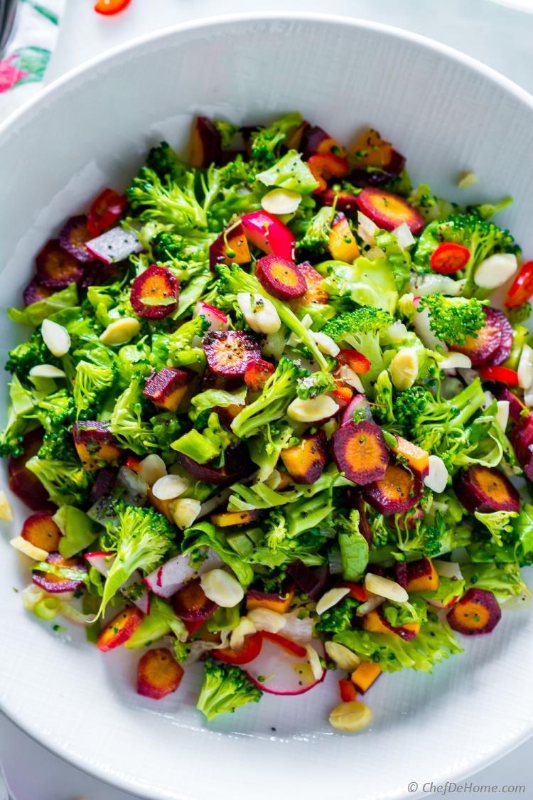 Cold Broccoli Salad  Winter Detox Healthy Broccoli Salad Recipe