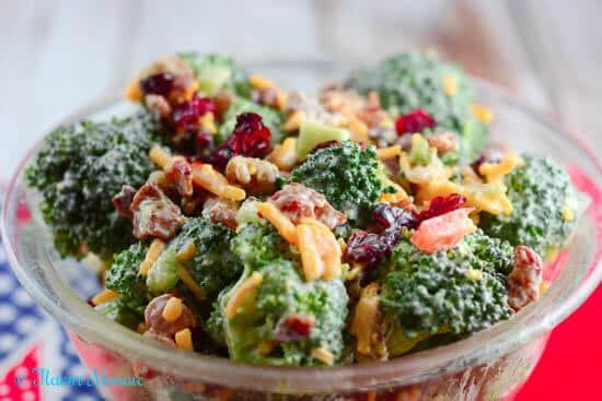 Cold Broccoli Salad  Broccoli Salad SundaySupper Flavor Mosaic
