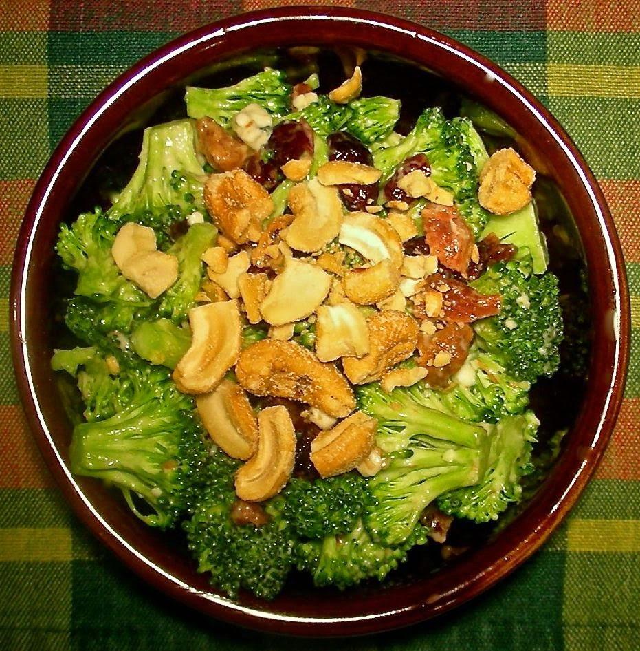 Cold Broccoli Salad  Basic Cold Broccoli Salad with Blue Cheese Bacon