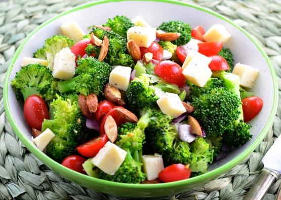 Cold Broccoli Salad  cold broccoli salad with red wine vinegar