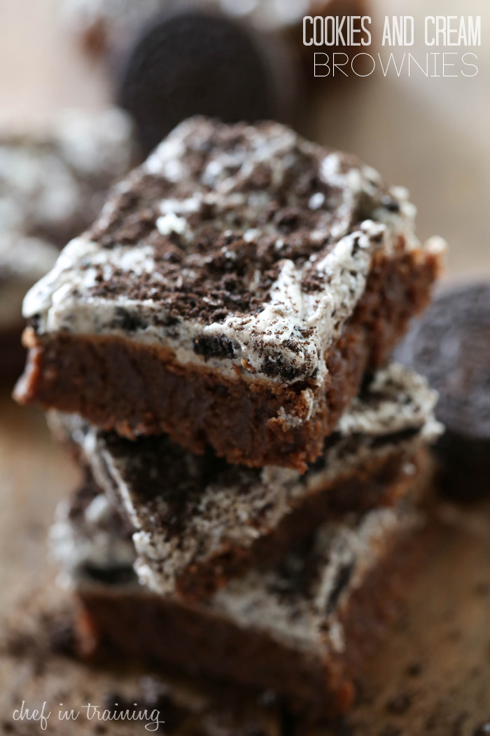 Cookies And Cream Brownies  Cookies and Cream Frosted Brownies Chef in Training