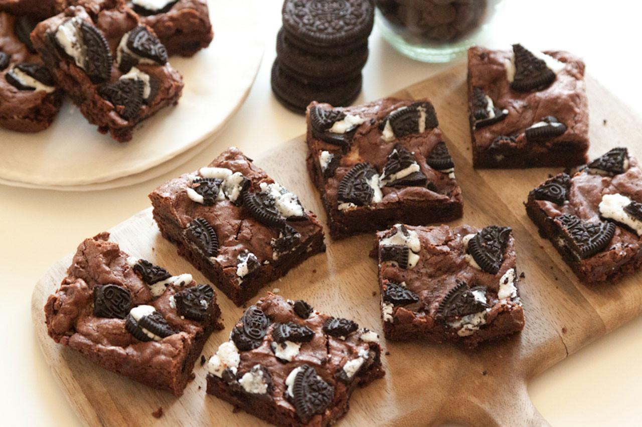 Cookies And Cream Brownies  Cookies and Cream Brownies