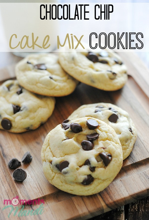 Cookies With Cake Mix  cake mix chocolate chip cookies