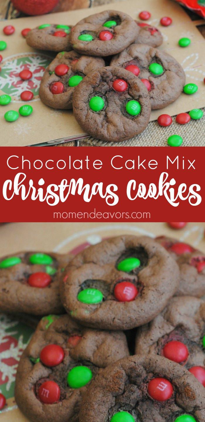 Cookies With Cake Mix  Chocolate Cake Mix Christmas Cookies