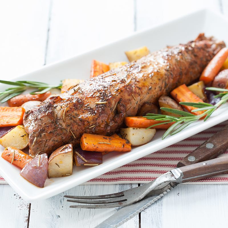 Cooking Pork Loin Roast  Roasted Pork Tenderloin with Rosemary Recipe