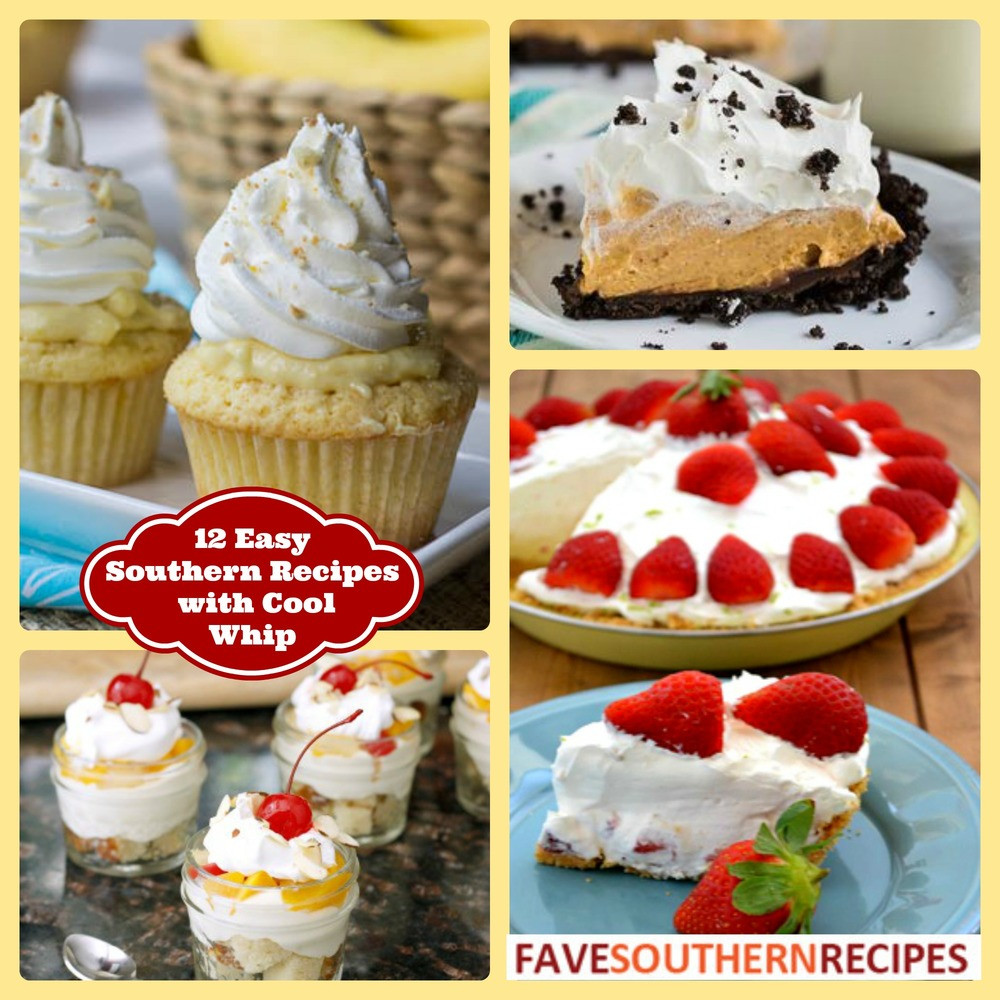 Cool Dessert Recipes  12 Easy Southern Recipes with Cool Whip