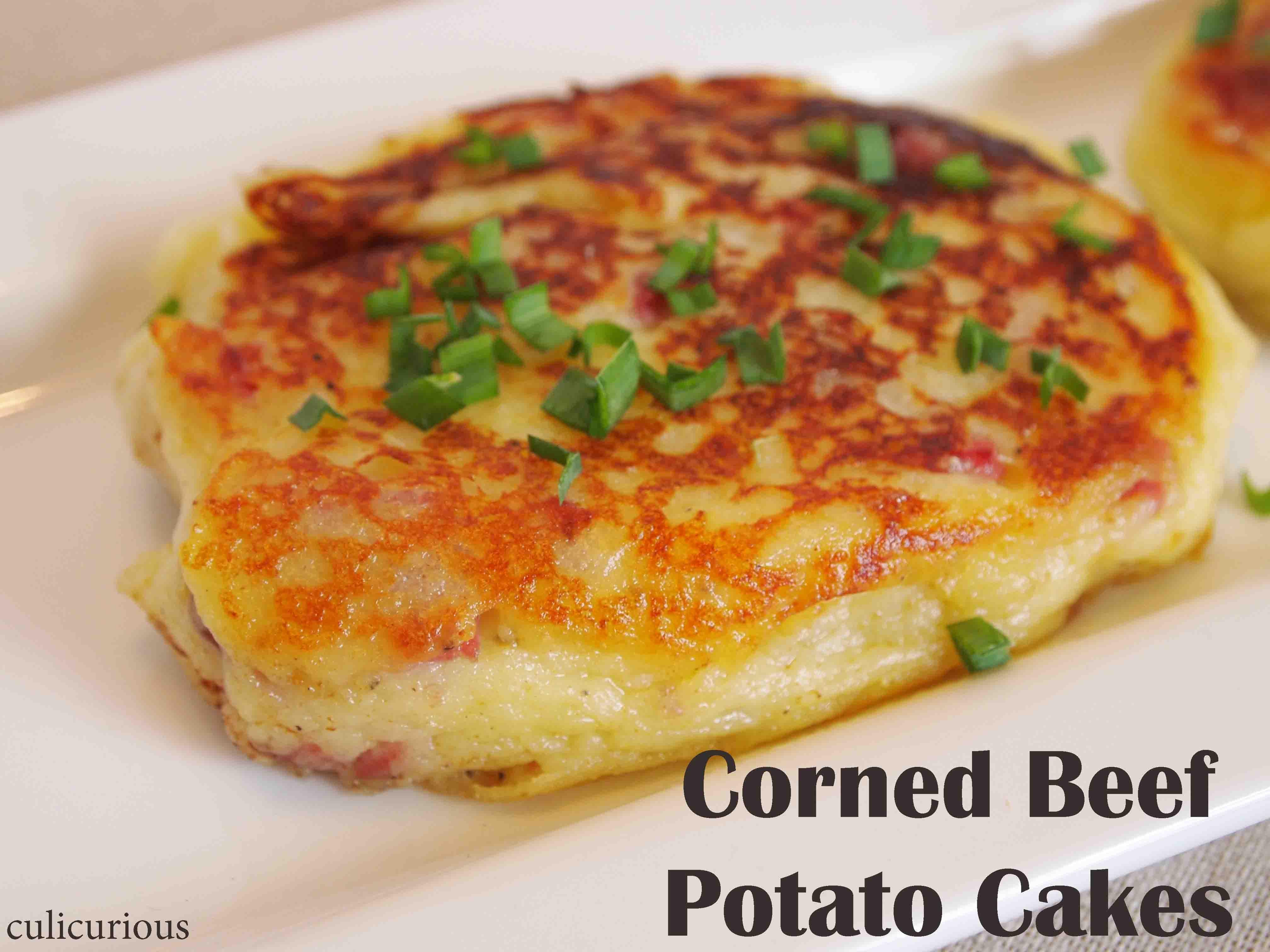 Corn Beef Recipes  Corned Beef Irish Potato Cake Recipe