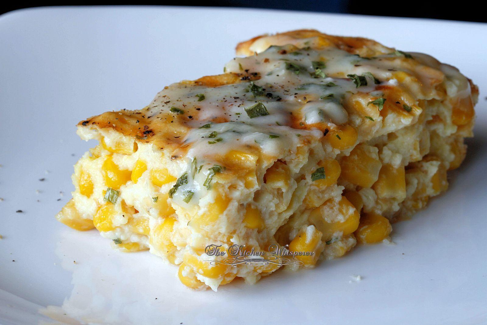 Corn Casserole With Cream Cheese  Baked Creamy Corn Casserole