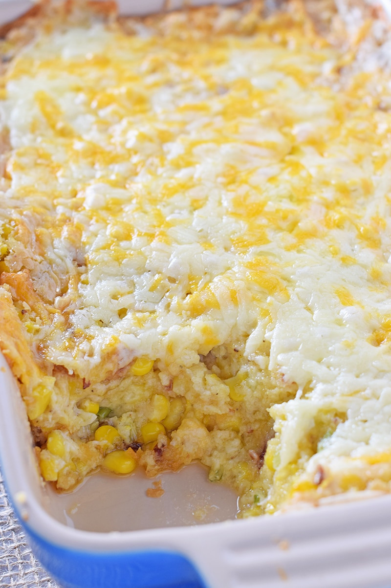 Corn Casserole With Cream Cheese  Creamy Bacon Corn Casserole Adventures of Mel