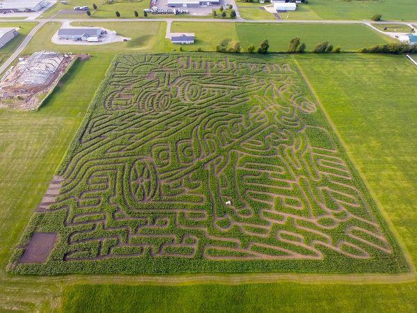 Corn Maze Indiana  Family Fun at the Shipshewana Indiana Corn Maze $1