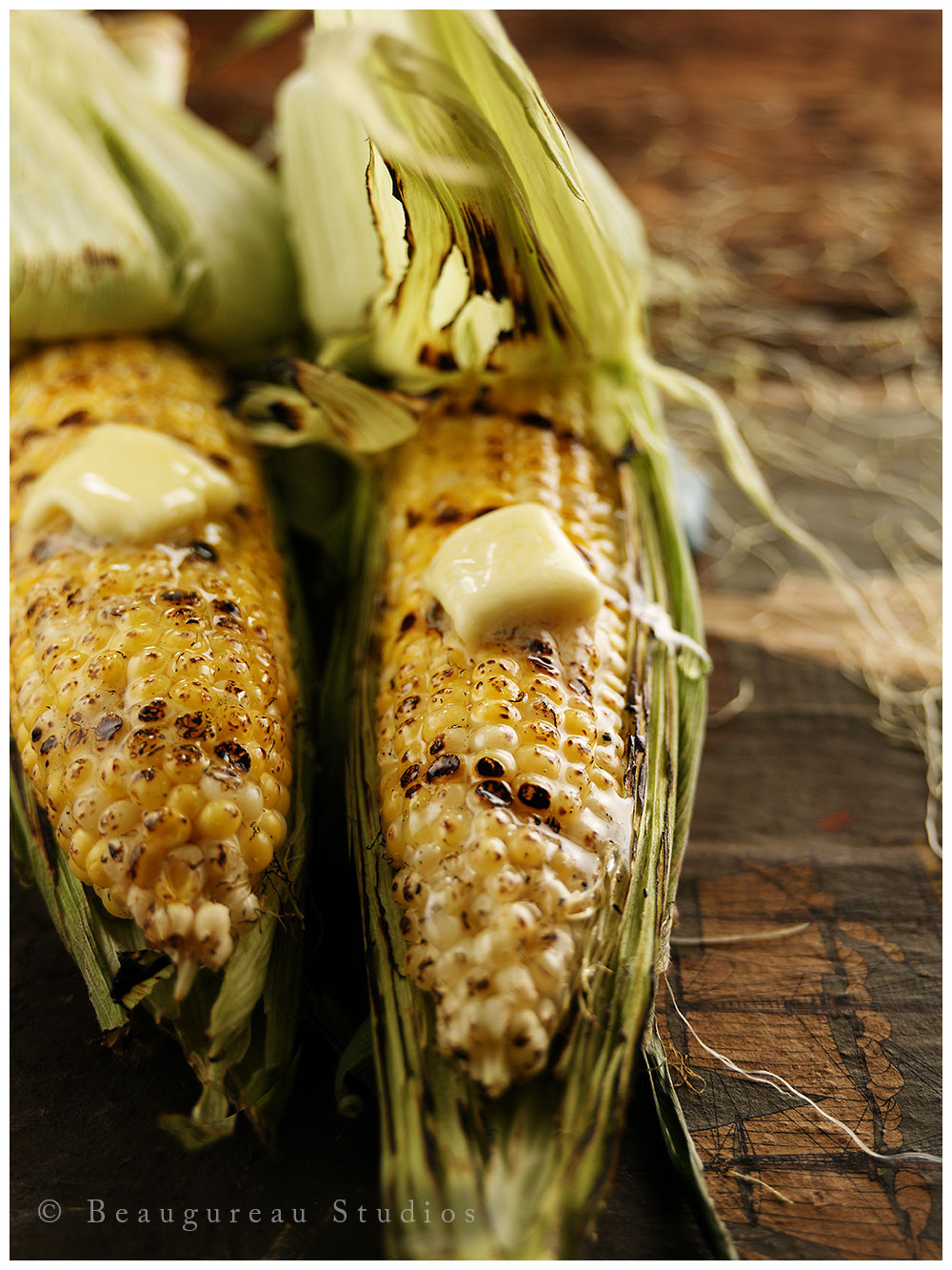 Corn On Grill  Beaugureau Studios 3 Way Grilled Corn on the Cob