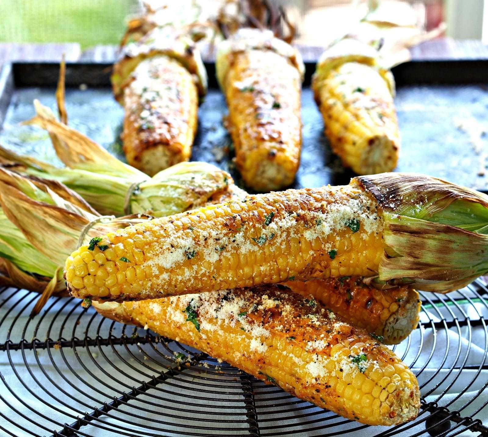 Corn On Grill  Grilled Corn Simply Sated