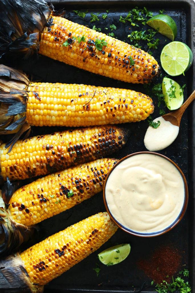 Corn On Grill  Grilled Corn with Sriracha Aioli