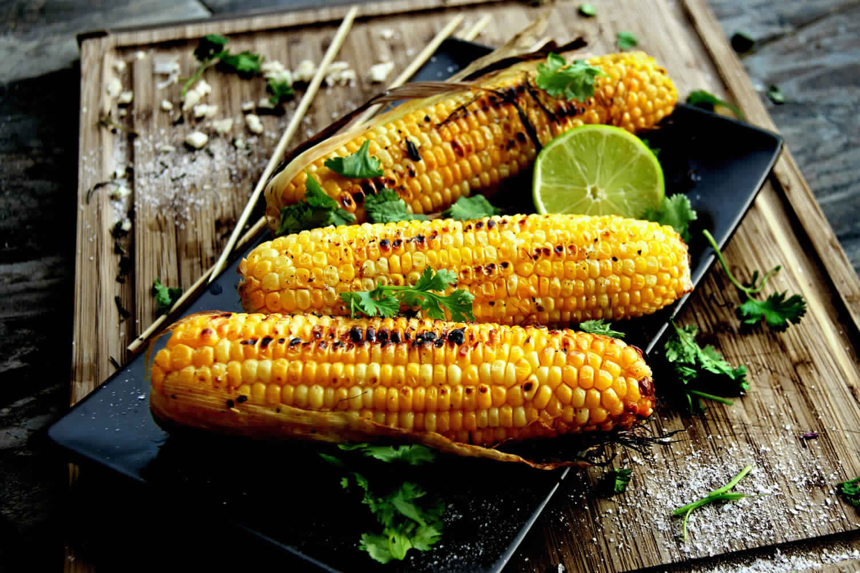 Corn On Grill  top mexican food recipes corn cob grill mexican american