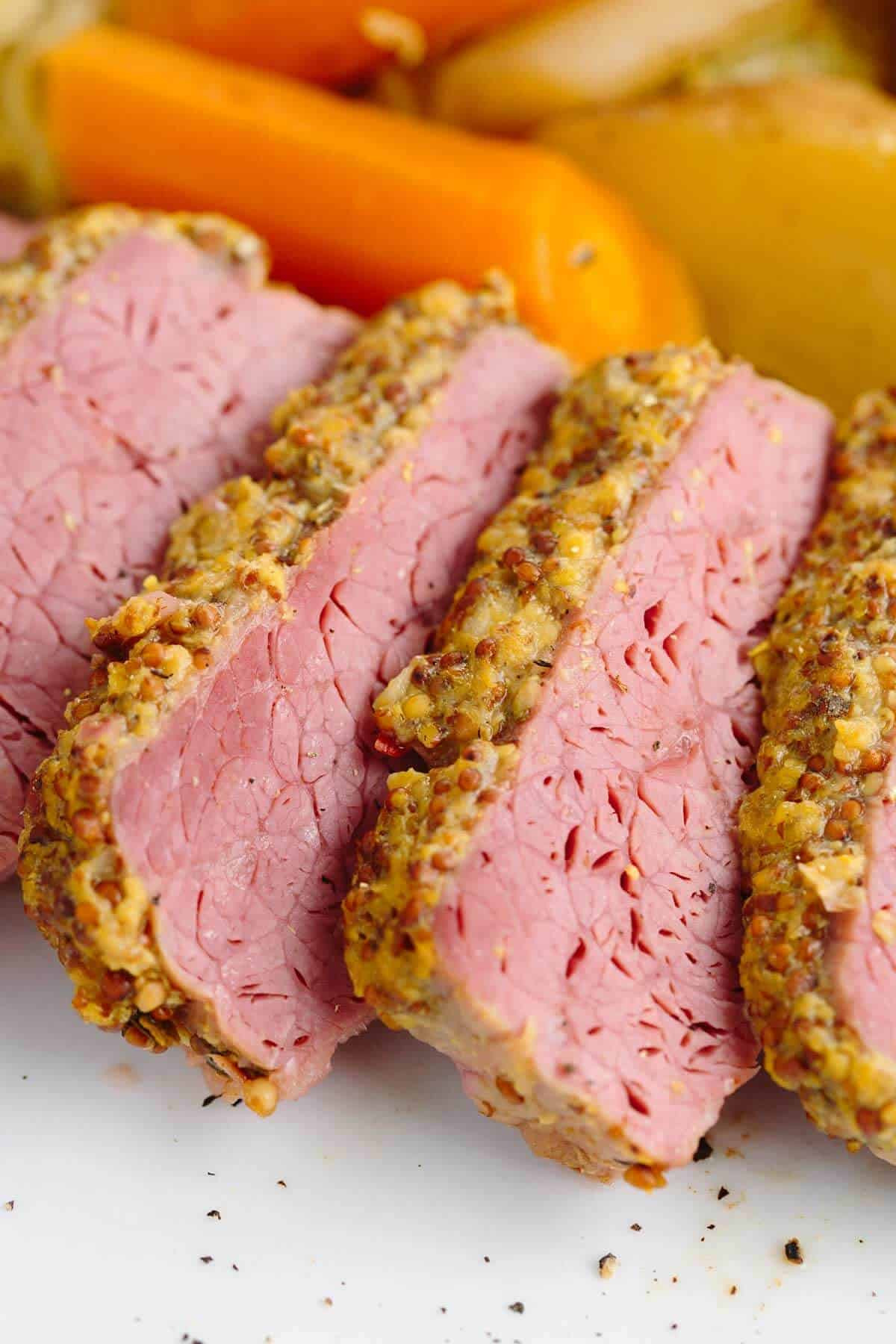 Corned Beef Brisket  Slow Cooker Corned Beef with Guinness Mustard