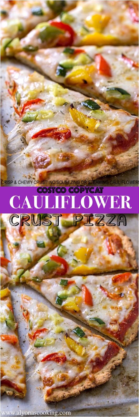 Costco Cauliflower Pizza  Costco Copycat Cauliflower Pizza Crust
