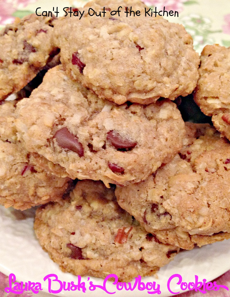 Cowboy Cookies Recipe  Laura Bush s Cowboy Cookies Can t Stay Out of the Kitchen