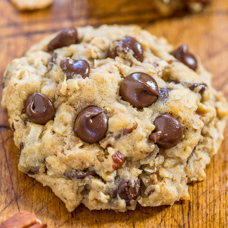 Cowboy Cookies Recipe  Cowboy Cookies Averie Cooks