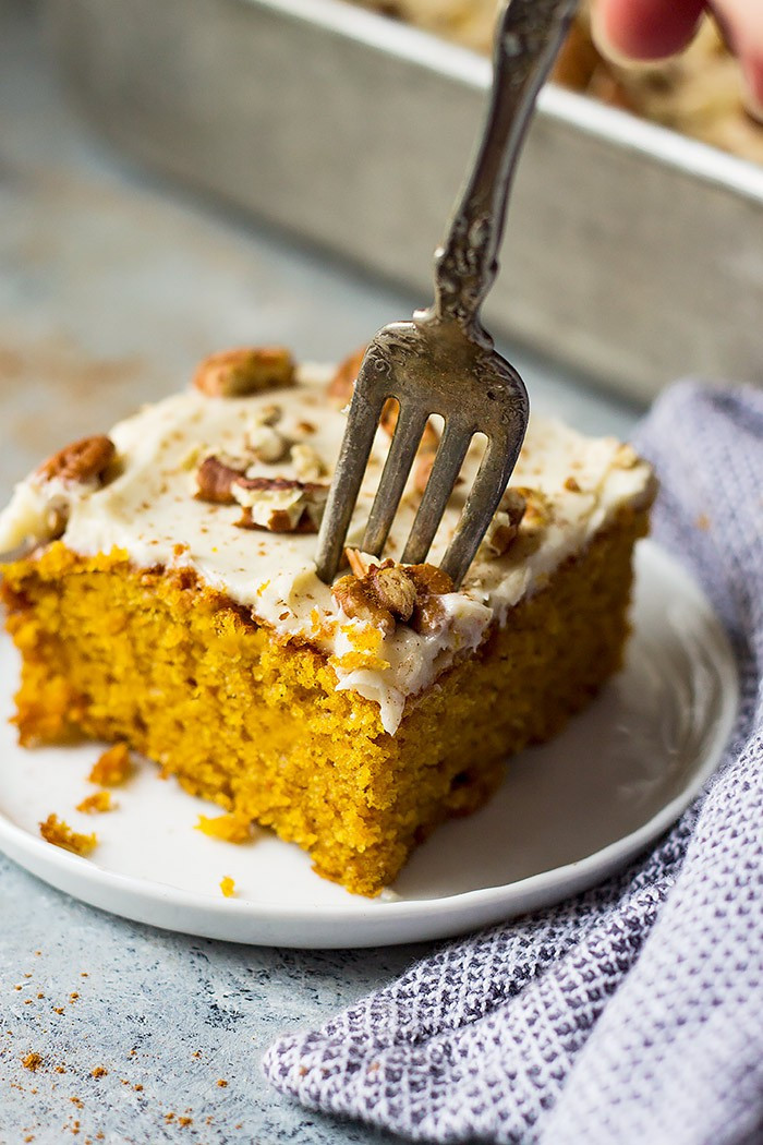 Cream Cheese Cake  Easy Pumpkin Cake with Cream Cheese Frosting